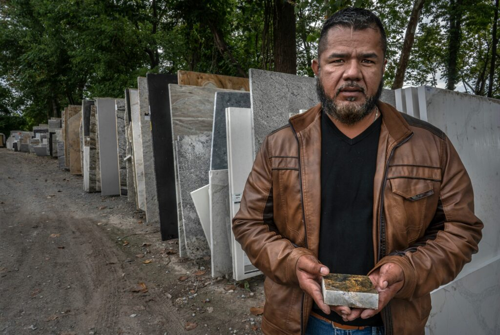 Juan Lombera, owner of MC Granite in Nashville. After weathering supply chain delays and labor shortages, his next challenge is getting his employees to comply with the federal vaccine-or-test mandate. (Photo: John Partipilo)