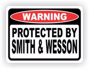 Smith and Wesson sticker.