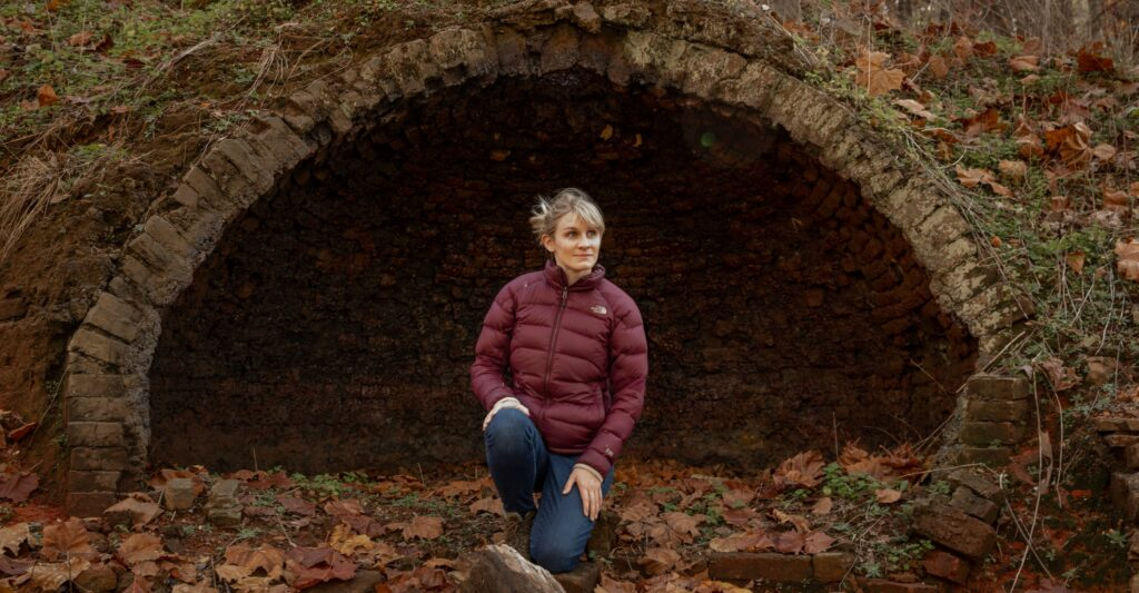 Dr. Camille Westmont of Sewanee, photographed outside Lone Rock Stockade in Grundy County. (Photo: Submitted)