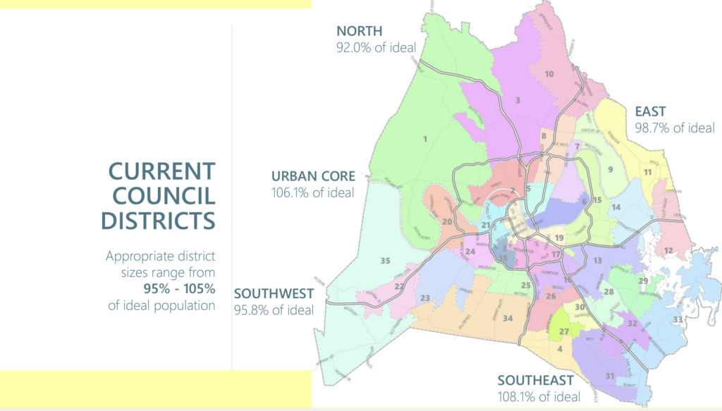 First draft of new Metro Council districts. (Map: Metro Planning